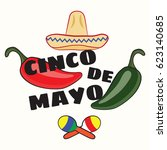 vector illustration of cinco de ... | Shutterstock .eps vector #623140685