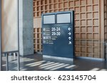 information board at the airport   Shutterstock . vector #623145704