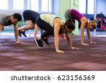 fitness  sport and healthy... | Shutterstock . vector #623156369