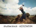 woman of ethiopian origin... | Shutterstock . vector #623156534