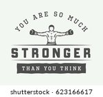 vintage retro motivation logo ... | Shutterstock .eps vector #623166617
