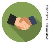agreement  handshake icon | Shutterstock .eps vector #623170019