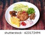 thai food  fried jasmine rice... | Shutterstock . vector #623172494