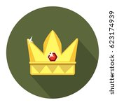 crown golden icon   Shutterstock .eps vector #623174939