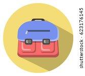school bag icon   Shutterstock .eps vector #623176145