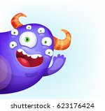 waving monster | Shutterstock .eps vector #623176424