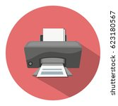printer  icon | Shutterstock .eps vector #623180567