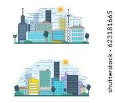 flat line design graphic image... | Shutterstock .eps vector #623181665
