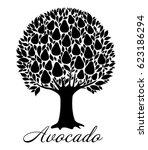 avocado tree  isolated on white ...   Shutterstock .eps vector #623186294