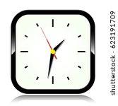 illustration of clock on white...   Shutterstock .eps vector #623191709