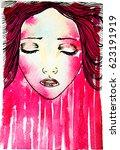watercolor graphic illustration ... | Shutterstock . vector #623191919