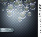 water bubbles isolated on a... | Shutterstock .eps vector #623195135