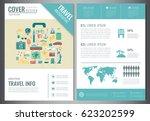 travel brochure design.... | Shutterstock .eps vector #623202599