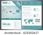 travel brochure design.... | Shutterstock .eps vector #623202617