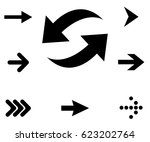 pointer  arrow  recycle signs.... | Shutterstock .eps vector #623202764