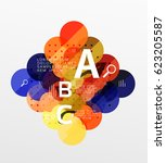 vector circle bubbles modern... | Shutterstock .eps vector #623205587