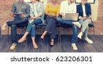multiethnic asian business...   Shutterstock . vector #623206301