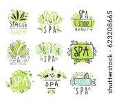 spa healthy beauty studio set... | Shutterstock .eps vector #623208665