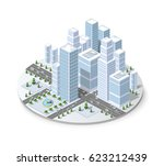 winter snowbound landscape 3d... | Shutterstock . vector #623212439