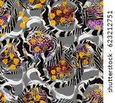 texture of print fabric ... | Shutterstock . vector #623212751