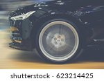 soft focus  sport car running... | Shutterstock . vector #623214425