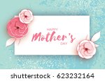 happy mother's day. pink pastel ... | Shutterstock .eps vector #623232164