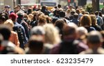 crowd of people walking street | Shutterstock . vector #623235479