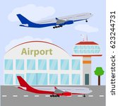 airport icon | Shutterstock . vector #623244731