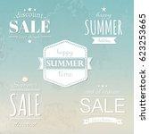 summer labels set | Shutterstock . vector #623253665