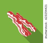 bacon icon in flat style... | Shutterstock .eps vector #623254421