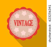 vintage icon in flat style... | Shutterstock .eps vector #623256341