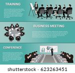 office people  presentation... | Shutterstock .eps vector #623263451