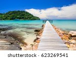 Small photo of Enjoin a good summer time on the beach with clear water at Bang Bao Beach on Koh Kood islands in Gulf of Thailand