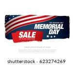 memorial day sale banner | Shutterstock .eps vector #623274269