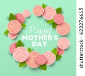happy mothers day background... | Shutterstock .eps vector #623276615