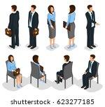 isometric business people set... | Shutterstock .eps vector #623277185