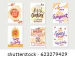 sketch premium bakery posters... | Shutterstock .eps vector #623279429