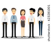 group of business and office... | Shutterstock .eps vector #623281001