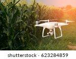drone of corn field | Shutterstock . vector #623284859