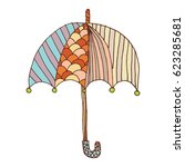 umbrella freehand vector | Shutterstock .eps vector #623285681