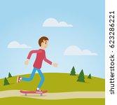 vector character cartoon boy... | Shutterstock .eps vector #623286221