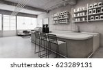 cafe shop   restaurant design... | Shutterstock . vector #623289131