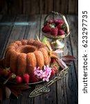 rum baba   traditional retro...   Shutterstock . vector #623297735
