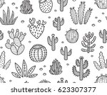 hand drawn seamless pattern... | Shutterstock .eps vector #623307377