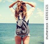 summer lifestyle fashion... | Shutterstock . vector #623311121