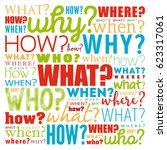 questions whose answers are... | Shutterstock .eps vector #623317061