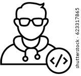 developer vector icon | Shutterstock .eps vector #623317865