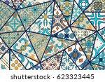 vector decorative background.... | Shutterstock .eps vector #623323445