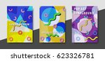 artistic funky design for print ... | Shutterstock .eps vector #623326781