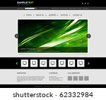 vector website design template | Shutterstock .eps vector #62332984